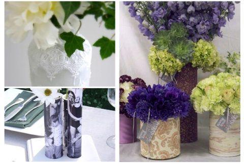 А вот вазы, обёрнутые бумагой
