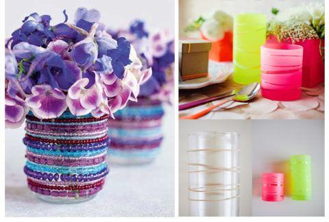 Стильно оформленные вазы