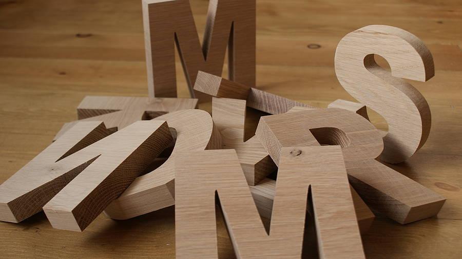 Как сделать своими руками буквы из дерева