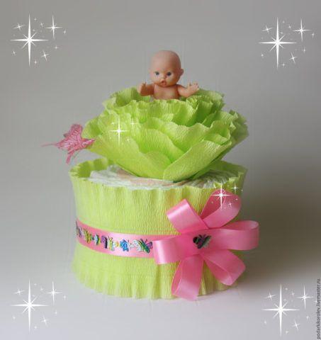Чудесный маленький тортик-цветок