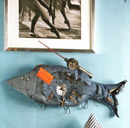 Чудо рыба в подарок мужу рыбаку.