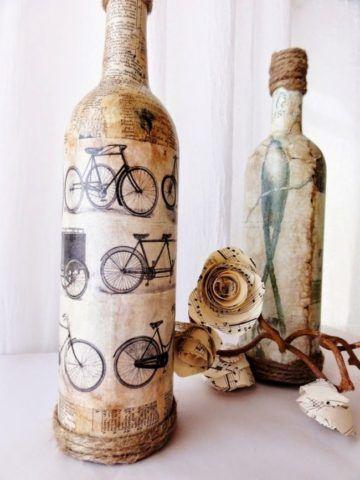 Декор бутылки своими руками