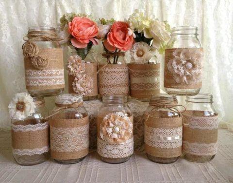 Декоративные баночки для специй с росписью.