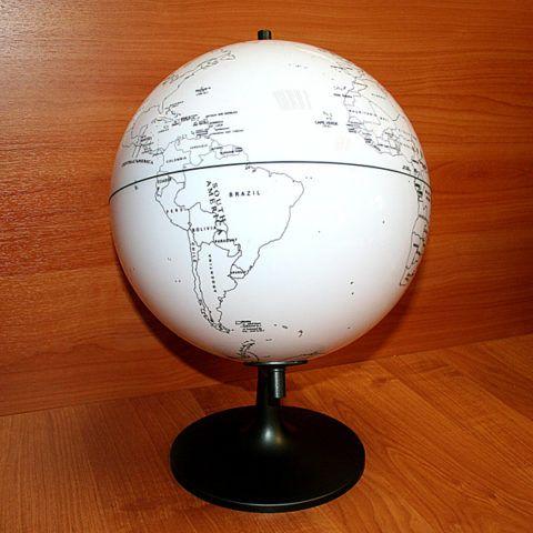 Глобус для раскрашивания