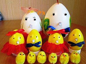 Игрушки из яйца, симпатичные зайцы.