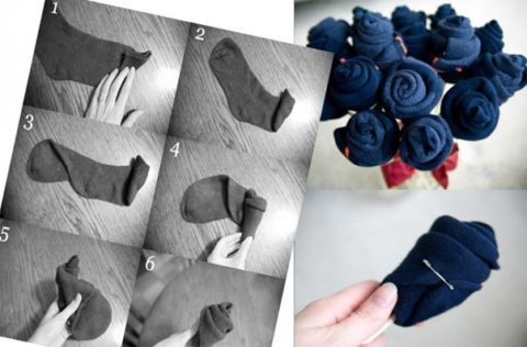 Как сделать букет из носков – инструкция