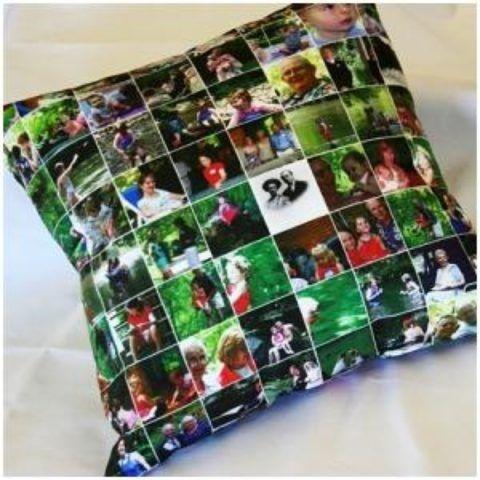 Как сделать маме на 8 Марта подарок: подушка с фотографиями