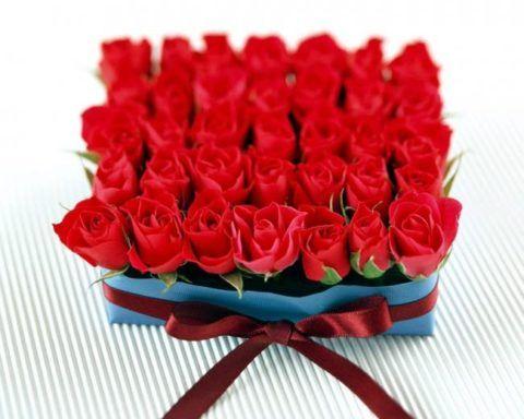 Красный букет