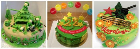 Креативный торт для защитников