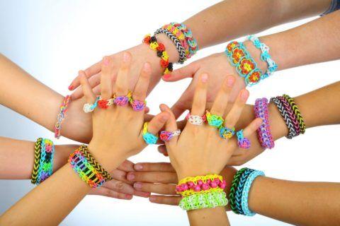 Набор разноцветных резиночек для творчества