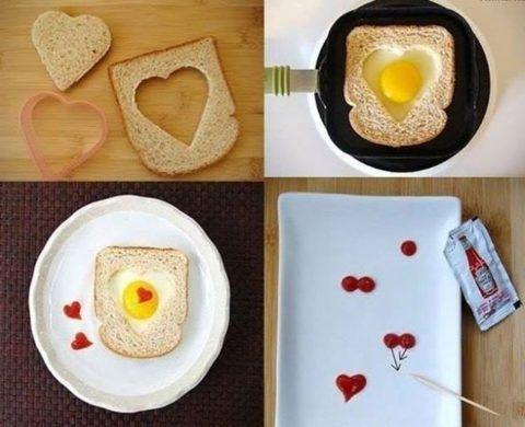 Как сделать прикольный завтрак маме