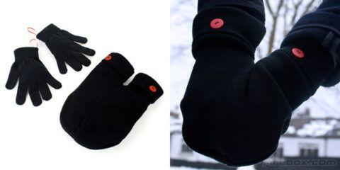 Перчатки и варежка для двоих