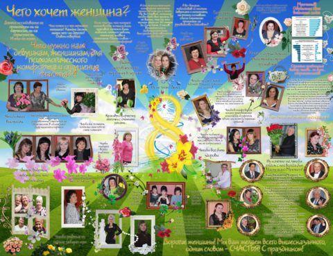 Плакат на 8 марта