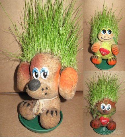 Подарок на 23 февраля – «травянчик»