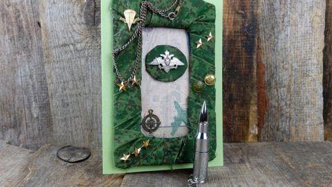 Рамка для фото в подарок «милитари».