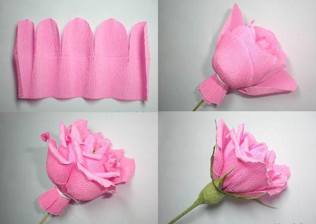 Розы своими руками из гофрированной бумаги
