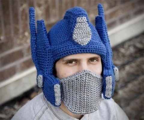 Шапочка «Космический шлем». Фото.