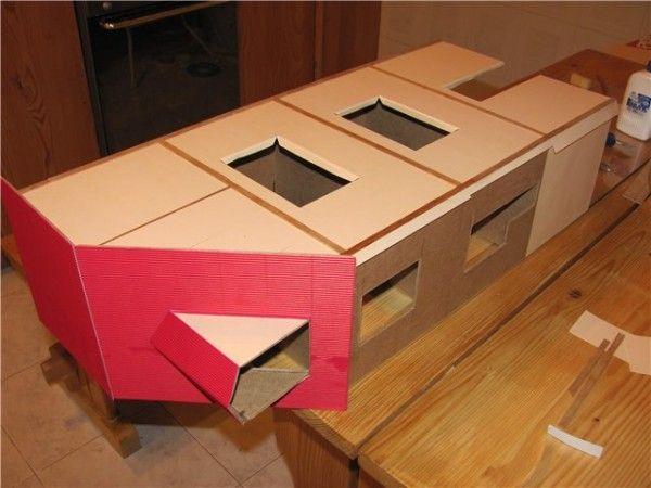 Домик из картона своими руками для куклы