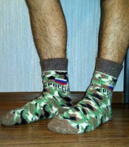 Связанные своими руками носки на 23 февраля