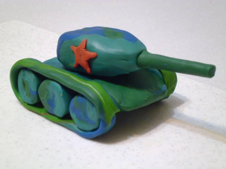 Поделка из пластилина своими руками танк