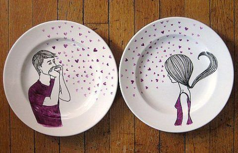 Тарелки с рисунком