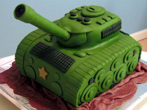 Торт из мастики ко Дню защитника Отечества
