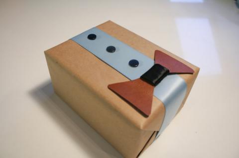 Упаковка с бабочкой.