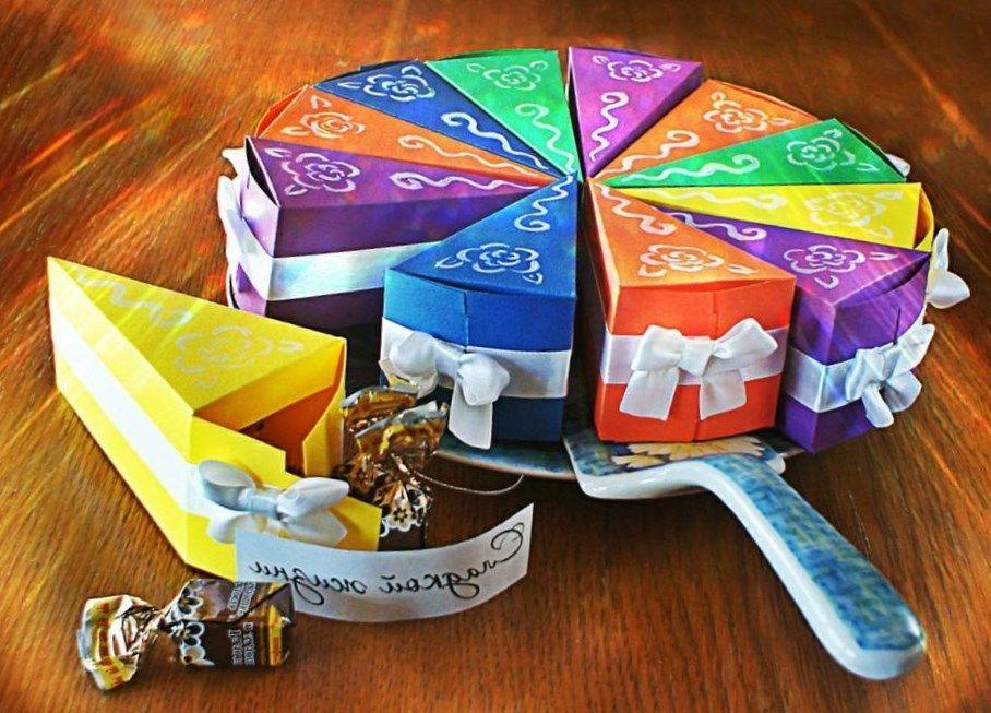 Как сделать из бумаги конфету с сюрпризом