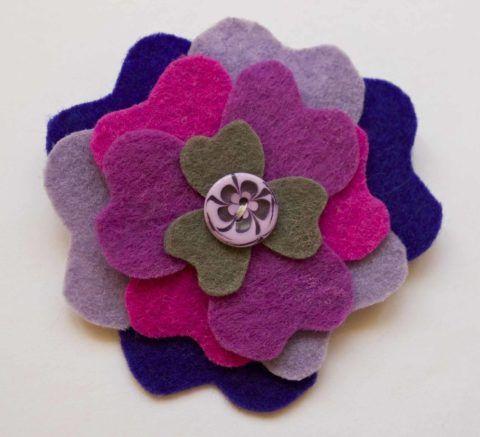 Вариант цветка из фетра