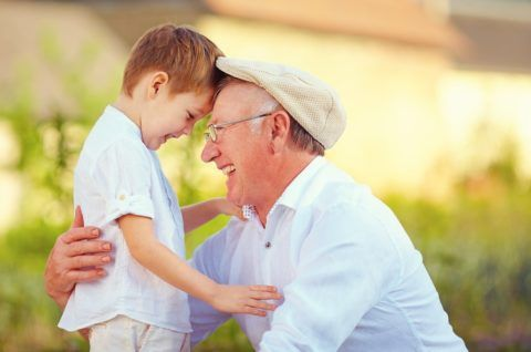 Внимание внуков – лучший подарок для свекра