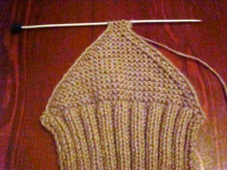 Вязание половины тапочки.