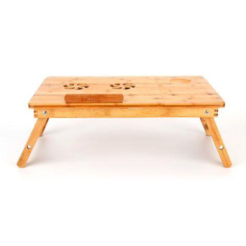 Более стильный бамбуковый столик с вентилятором.