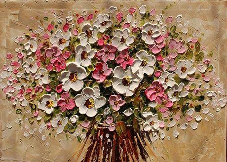 Букет цветов в картине