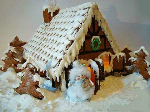 Готовый пряничный домик