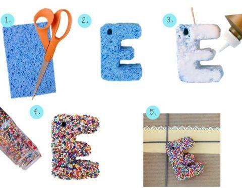 Как сделать сладкие буквы