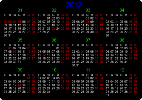 Календарь веб-программиста