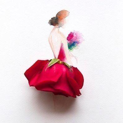 Картина с алой розой