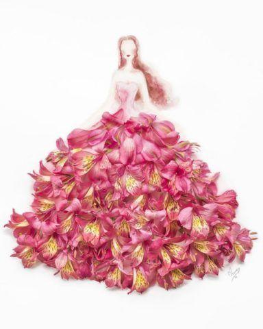 Картина с розовыми фрезиями.