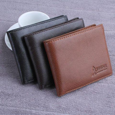 Кожаный бумажник: визитница, портмоне, двойной зажим для денег.