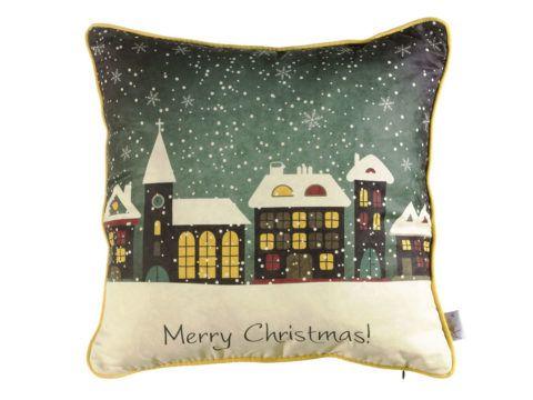 Красивая новогодняя подушка.