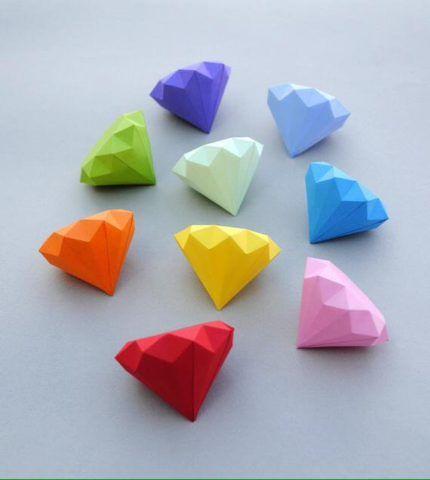 Кристаллы из бумаги