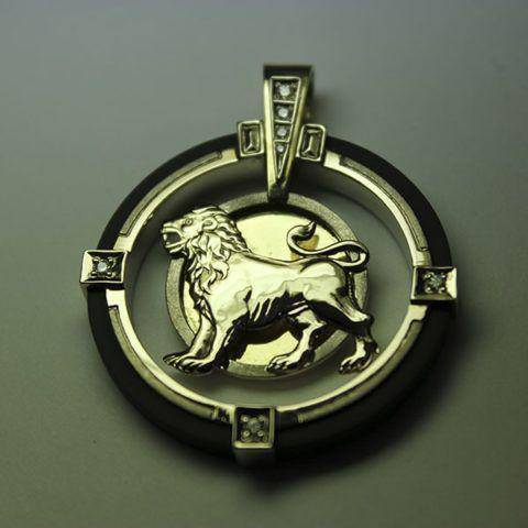 Кулон знак зодиака «Лев»