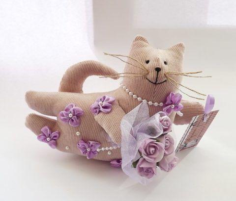 Мягкая игрушка «Веселый кот» с ароматным наполнителем.
