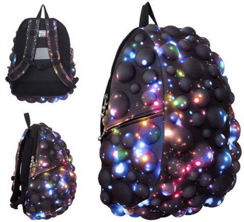 Необычной формы рюкзак для подростка.