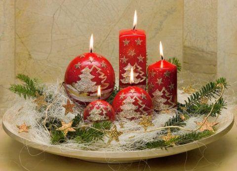Сувенир со свечами.