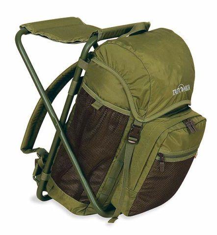 Рюкзак со складным табуретом.