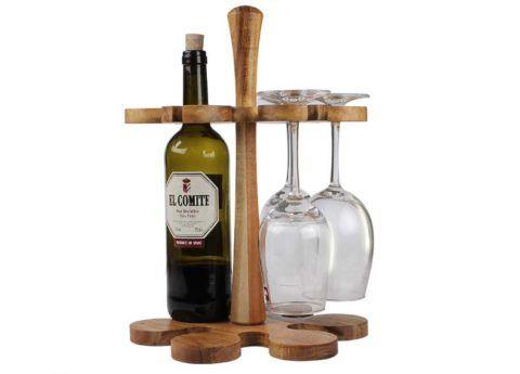 Оригинальная подставка под винную бутылку