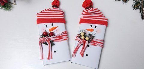 Письмо с пожеланиями на новый Год «Снеговик».