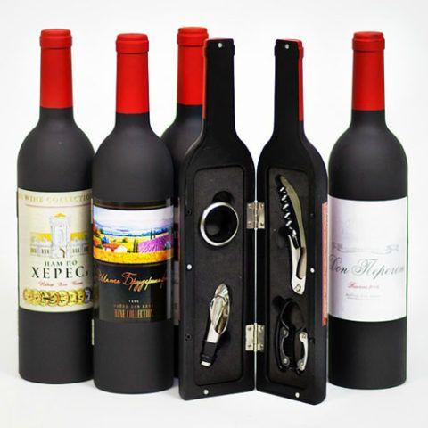 Подарочный набор для раскупоривания алкоголя.