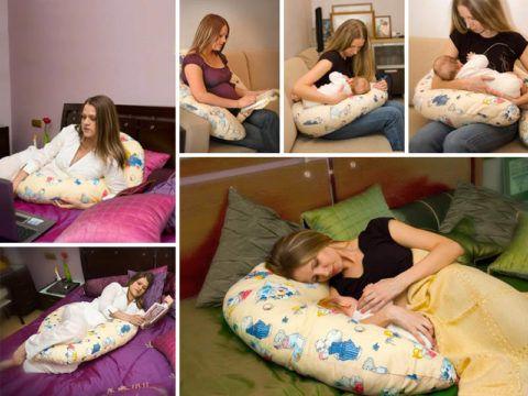 Подушка для кормления . Удобно и маме , и малышу.